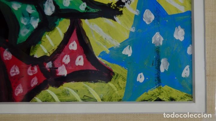 Arte: CUADRO PINTURA DE EDGAR NEVILLE, RETRATO DE PAYASO. ACUARELA SOBRE CARTÓN SIN FECHA. ENMARCADO NUEVO - Foto 12 - 165158634