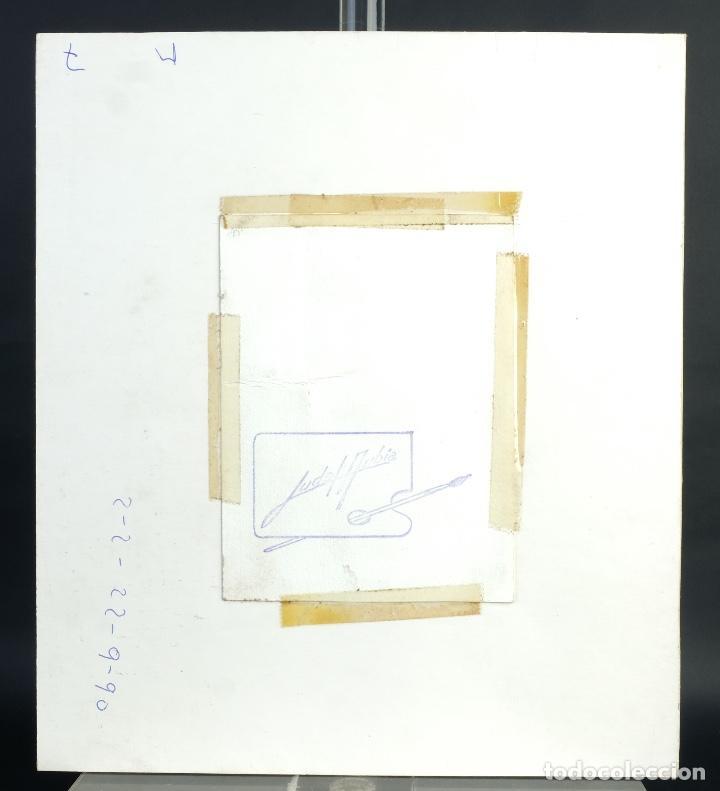 Arte: Acuarela y gouache sobre papel Balcón firma ilegible - Foto 5 - 165380262