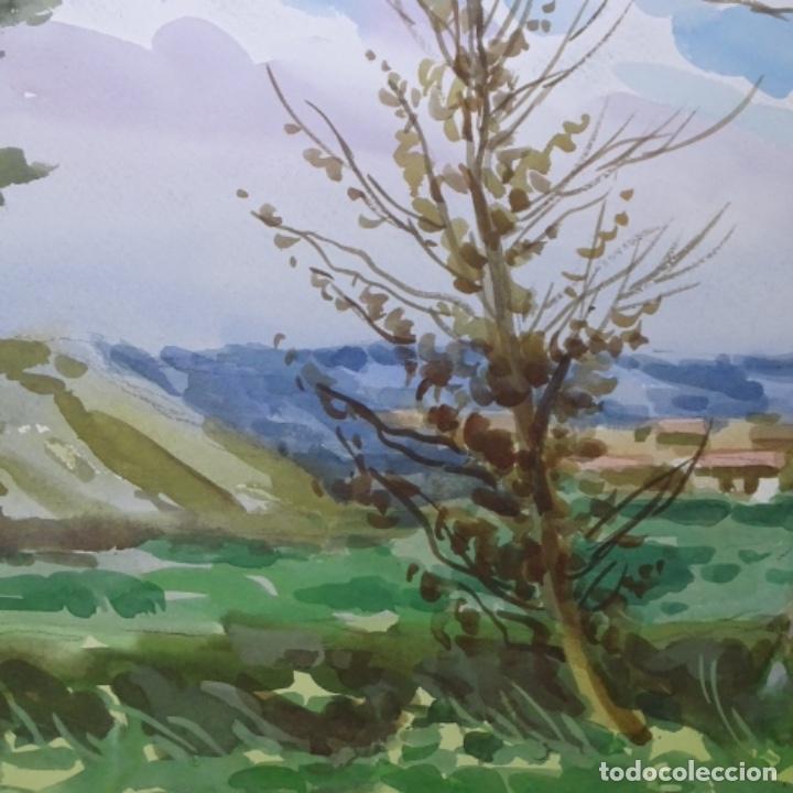 Arte: Acuarela de mariano brunet.paisatge de vic. - Foto 2 - 165687770