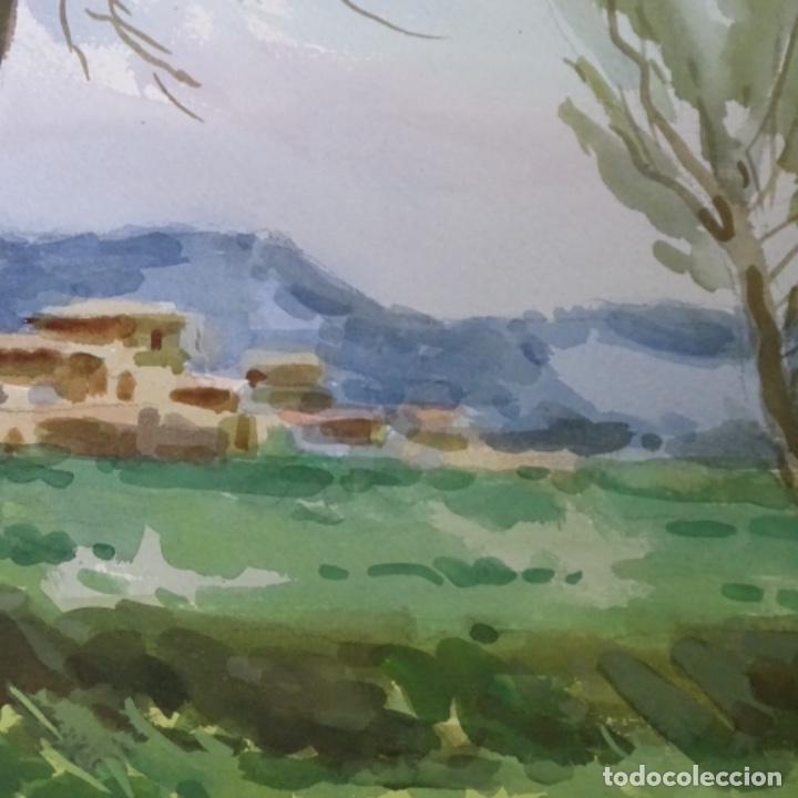Arte: Acuarela de mariano brunet.paisatge de vic. - Foto 3 - 165687770
