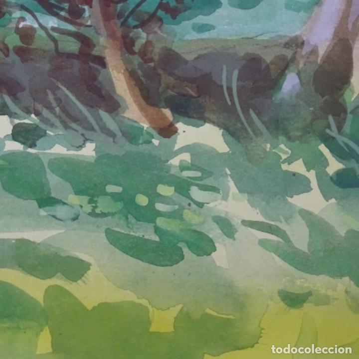 Arte: Acuarela de mariano brunet.paisatge de vic. - Foto 4 - 165687770