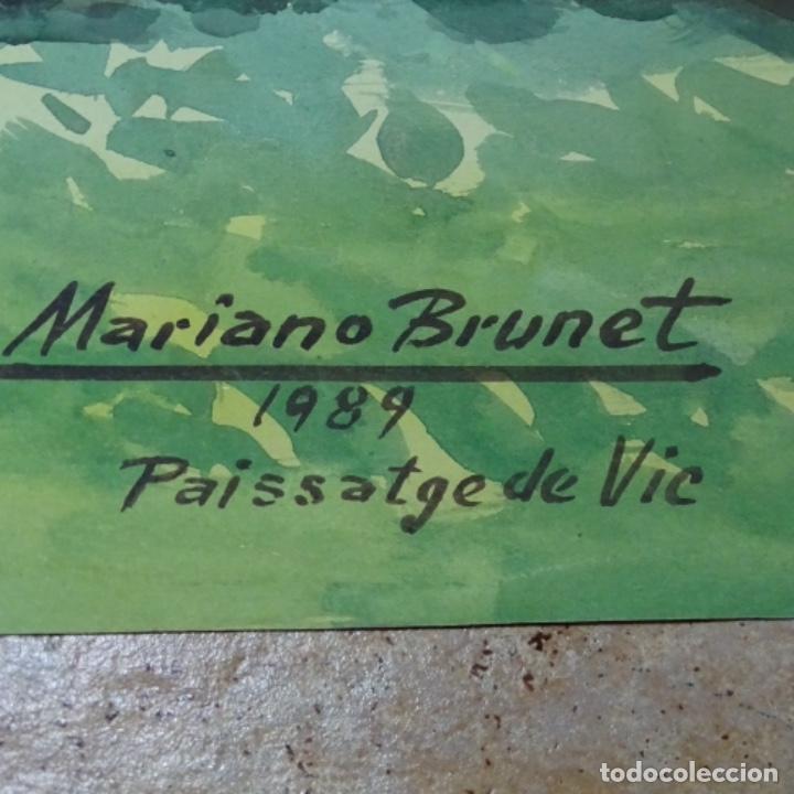 Arte: Acuarela de mariano brunet.paisatge de vic. - Foto 5 - 165687770