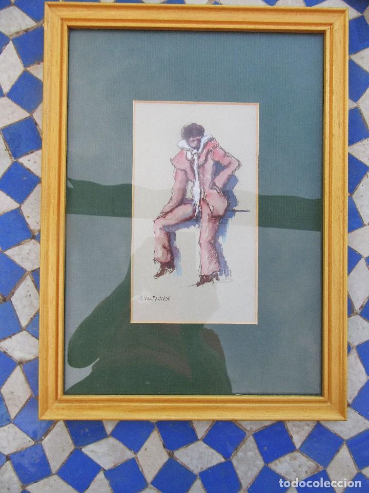 ACUARELA DE JL. SANZ MAGALLON (Arte - Acuarelas - Contemporáneas siglo XX)