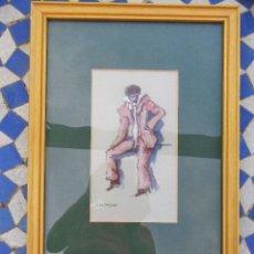 Arte: ACUARELA DE JL. SANZ MAGALLON. Lote 165726654