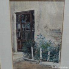 Arte: ACUARELA DE ALBERT ESTRADA VILARRASA(VIC 1934).BIEN ENMARCADA.. Lote 165794566
