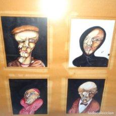 Arte: 4 ACUARELAS DE JOSEP PEPE NOVELLAS(MATARO).METAMORFOSIS.1976.GALERIA TANTRA.. Lote 165794842