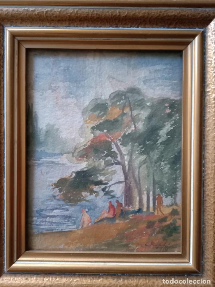 ACUARELA PAISAJE C ROPHI 1937 (Arte - Acuarelas - Contemporáneas siglo XX)