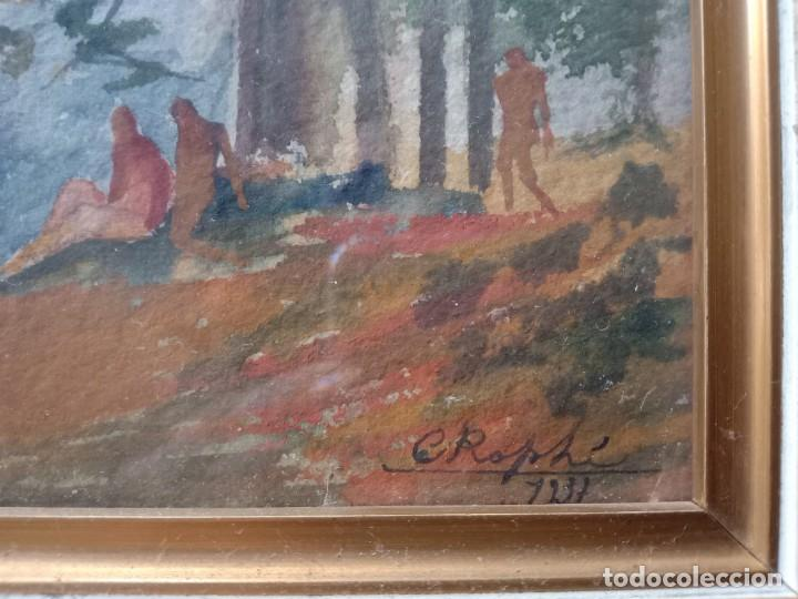 Arte: acuarela paisaje C Rophi 1937 - Foto 2 - 165956650