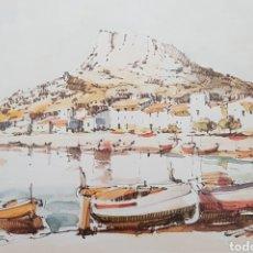 Arte: JOAN FUSTER GIMPERA (TORROELLA DE MONTGRÍ, 1917-2011) - 2 ACUARELAS.MARINA/PUEBLO.FIRMADAS.1978.. Lote 166379197