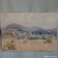 Arte: ACUARELA Y DIBUJO EN EL REVERSO DE ANTONI BADRINAS ESCUDE.. Lote 166466494