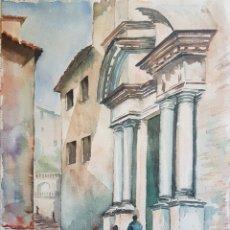 Arte: JOSEP Mª VAYREDA CANADELL (OLOT, 1932-2001) - SANT MARTÍ SACOSTA,GIRONA.FIRMADA.C1950. Lote 166581786