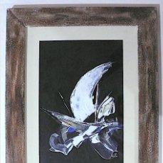 Arte: ¿VIOLA? ABSTRACTO BARCO, TECNICA MIXTA. Lote 167021120