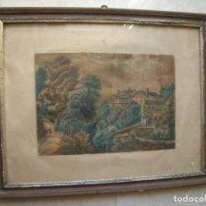 Arte: ANTIGUO DIBUJO DE ACUARELA, FIRMADO FRANCISCO DEL VILLAR Y BUSTOS. ANTIGUO GOBERNADOR DE CASTELLÓN ?. Lote 167159140