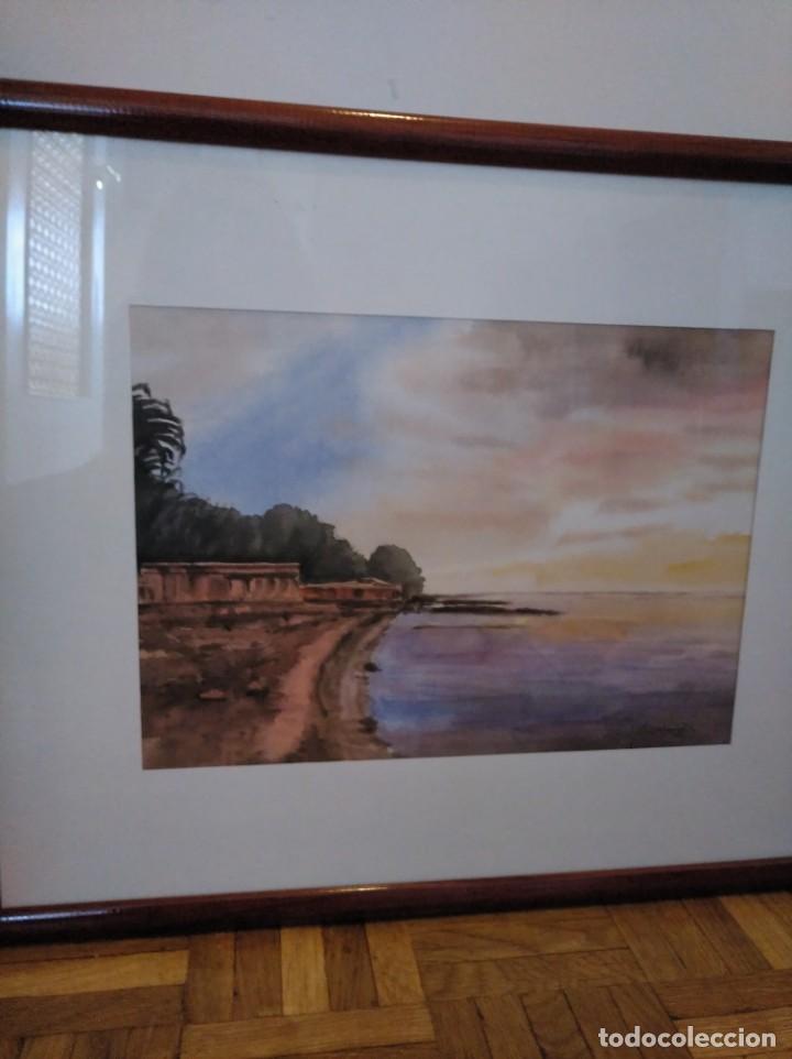 Arte: Acuarela firmada y enmarcada - Foto 2 - 167669948