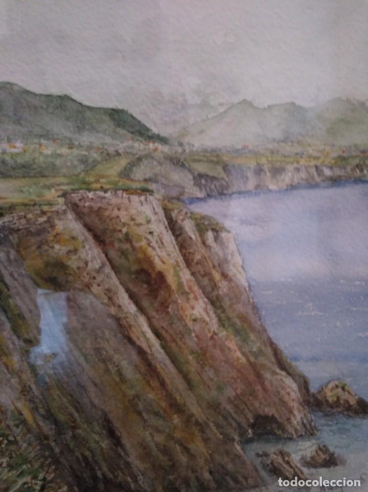 ACUARELA FIRMADA Y ENMARCADA. (Arte - Acuarelas - Contemporáneas siglo XX)