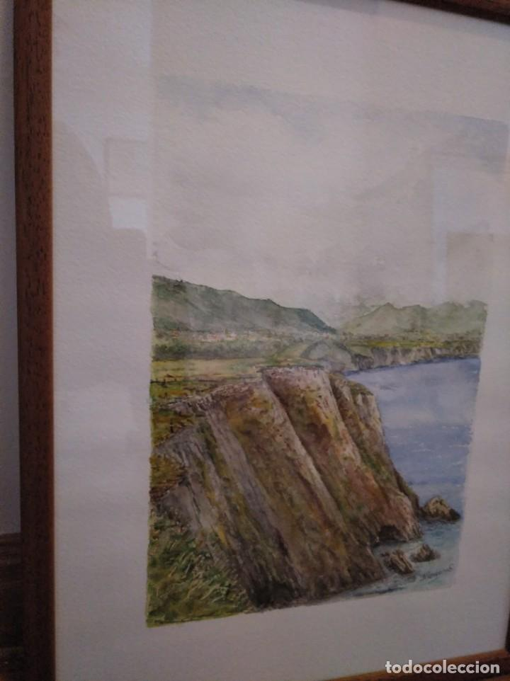 Arte: Acuarela firmada y enmarcada. - Foto 2 - 167670212