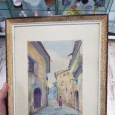 Arte - Acuarela de Josep Barrenechea Tubilla 1908-1991, paisaje rural - 167964100