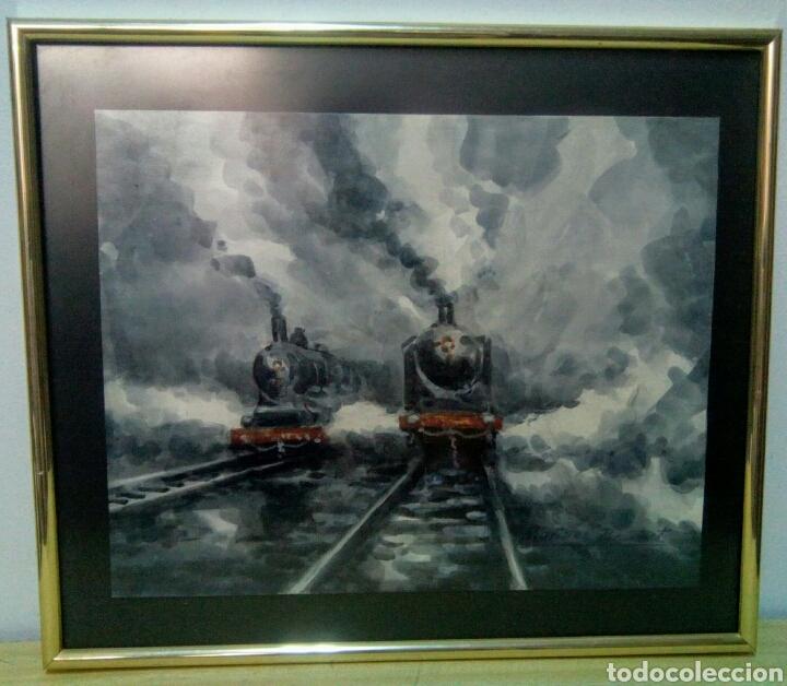 Arte: Mariano Brunet (1918-1999) Trenes. - Foto 2 - 168009278
