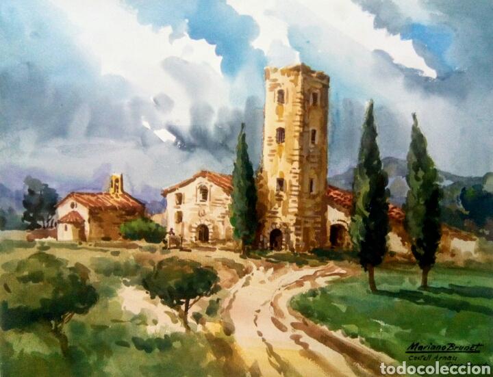 MARIANO BRUNET ( CASTELL ARNAU, TORRE BERNARDO) (Arte - Acuarelas - Contemporáneas siglo XX)