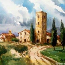 Arte: MARIANO BRUNET ( CASTELL ARNAU, TORRE BERNARDO). Lote 168009796