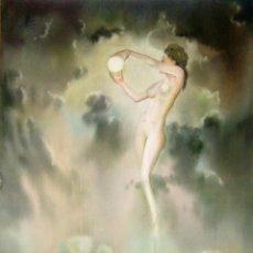 Arte: JOAN FUSTER GIMPERA. ( TORROELLA DE MONTGRI , GIRONA. 1917) PAISAJE SURREALISTA.. Lote 168009976
