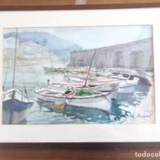 Arte: ACUARELA MARINA PINTOR ESTEVE LLOPART VALLS. Lote 168025252
