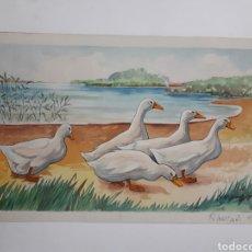 Arte: ACUARELA. POR R. MARTÍNEZ. 1953. Lote 168126842