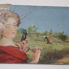 Art: ACUARELA SOBRE CARTÓN DURO DE UN PAISAJE DE CAMPO. Lote 168402134
