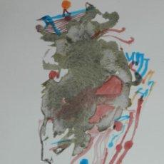 Arte: (M) MODEST CUIXART , PALAFRUGELL 2004 , ACUARELA CON DEDICATORIA, VER FOTOGRAFIAS. Lote 168481600