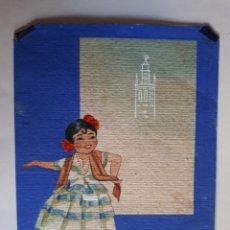 Arte: DIBUJO A LA ACUARELA DE ANDALUZA.. Lote 168626480