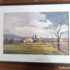 Arte: ACUARELA PAISAJE PINTOR ESTEVE LLOPART VALLS. Lote 168833060
