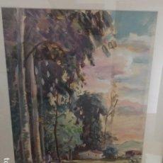 Arte: JOAQUIN MARSILLACH CODONY, ACUARELA Y GOUACHE SOBRE PAPEL, PAISAJE RURAL. Lote 168857096