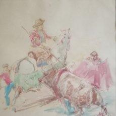 Arte: ACUARELA FIRMADA. ILEGIBLE. Lote 168936394