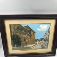Arte: ACUARELA IGLESIA VILLANUEVA DEL ARZOBISPO. Lote 169293166