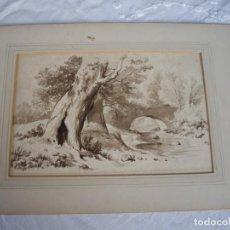 Arte: AGUADA ACUARELA,SIGLO XIX,MUCHA CALIDAD. Lote 169334612