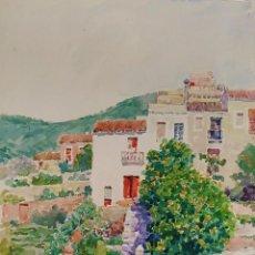 Arte: TIANA. ACUARELA SOBRE PAPEL. ATRIB. JULIÁN DEL POZO Y LA ORDEN. ESPAÑA. 1932. Lote 169572576