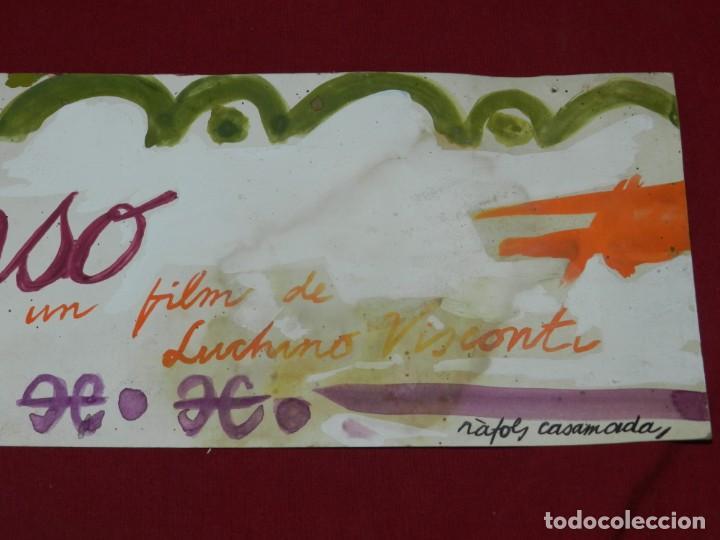 Arte: (M) Ràfols Casamada - Lote de 5 Acuarelas Originales de la Pelicula SENSO - Film Luchino Visconti - Foto 11 - 169579388