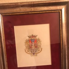 Arte: ACUARELA CON EL ESCUDO DE LA CIUDAD DE SEVILLA. Lote 169934449