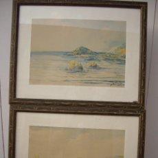 Arte: PAREJA DE ACUARELAS JOSE MONTESINOS 1914-1978. Lote 169950532
