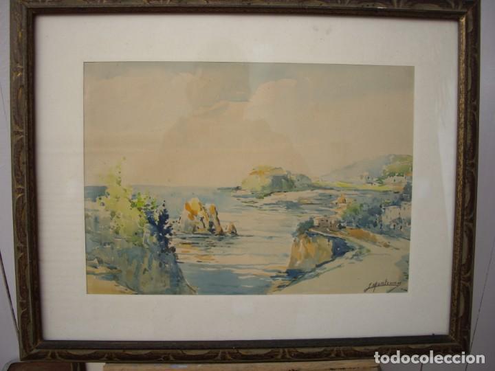 Arte: pareja de acuarelas jose montesinos 1914-1978 - Foto 2 - 169950532