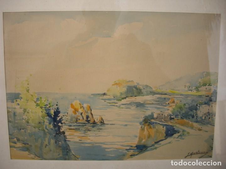 Arte: pareja de acuarelas jose montesinos 1914-1978 - Foto 3 - 169950532