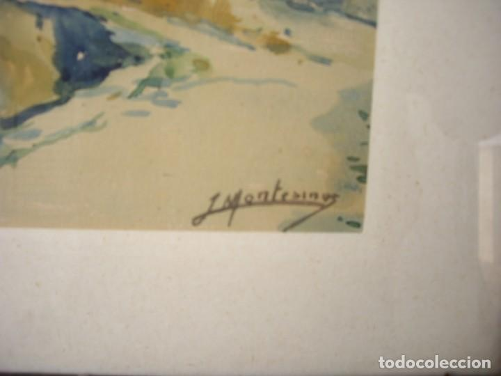 Arte: pareja de acuarelas jose montesinos 1914-1978 - Foto 4 - 169950532