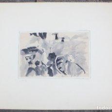 Arte: ACUARELA, TÉCNICA MIXTA, 1976, PERSONAS Y PAISAJE, FIRMADO COUSA VOSA, CABEIRO, GALICIA. 70,5X50CM. Lote 169975752