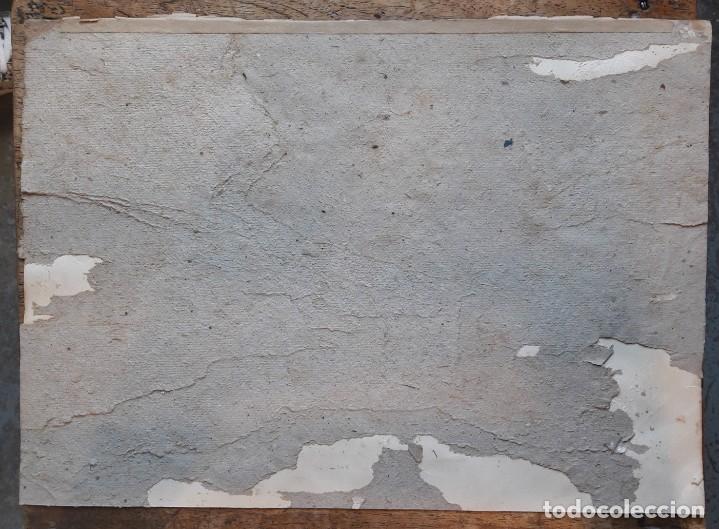 Arte: Henri GRENIER (1882-1940) Pintor Francés. Dibujo acuarela sobre papel pegado a cartón. - Foto 4 - 170185696