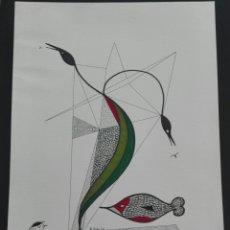 Arte: ORIGINAL W.R. REITER. WOLFGANG REITER. ACUARELA Y ROTULADOR. 1983. Lote 170486304