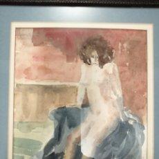 Arte: BEN HOSMAN (LAREN, HOLANDA, 1919-2009). ACUARELA.. Lote 170556061