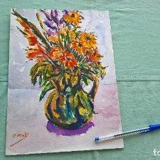 Arte: FLORES ..ACUARELA .. Lote 170743830