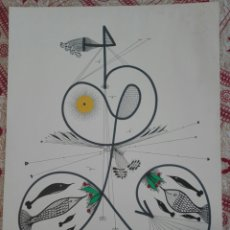 Arte: ORIGINAL W.R. REITER. WOLFGANG REITER. ACUARELA Y ROTULADOR. 1982. Lote 171231339