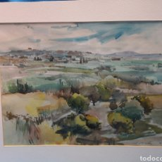 Arte: BONITA ACUARELA DEL VALLE DE RICOTE , MURCIA , POR J. COSTA 99,. Lote 171478614