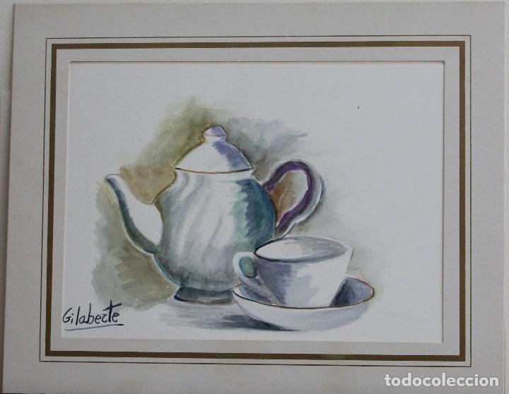 TETERA OBRA DE GILABERTE (Arte - Acuarelas - Contemporáneas siglo XX)